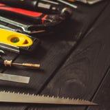 Sistema de las herramientas para el profesional real imagen de archivo