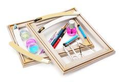Sistema de las herramientas para la manicura Foto de archivo libre de regalías