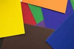 Sistema de las hojas de papel multicoloras para la decoración Foto de archivo