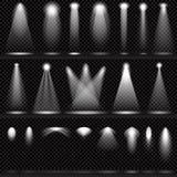 Sistema de las iluminaciones de la escena, efectos transparentes Imagenes de archivo