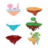 Sistema de las islas del juego libre illustration