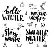 Sistema de las letras del invierno Foto de archivo libre de regalías