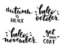 Sistema de las letras del otoño Fotos de archivo libres de regalías