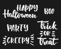 Sistema de las letras de Halloween Fotografía de archivo libre de regalías