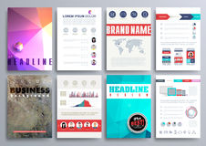 Sistema de las plantillas del diseño para los folletos, aviadores, Technologi móvil Imágenes de archivo libres de regalías