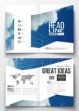 Sistema de las plantillas del negocio para el folleto, la revista, el aviador, el folleto o el informe anual Cielo azul hermoso,  Fotos de archivo