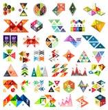 Sistema de las plantillas geométricas infographic - triángulos Foto de archivo libre de regalías