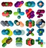 Sistema de las plantillas infographic #2 del círculo Imagen de archivo libre de regalías