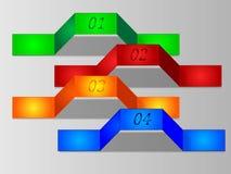 Sistema de las señales coloridas, etiquetas engomadas Imagen de archivo