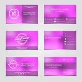 Sistema de las tarjetas de visita para el vino Fotografía de archivo