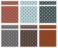 Sistema de las texturas y de las fronteras geométricas inconsútiles, estilo tribal de los indios americanos libre illustration