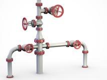 Sistema de las válvulas del petróleo. Fotos de archivo libres de regalías