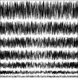Sistema de las vibraciones sísmicas del temblor en la escala de Richter ilustración del vector