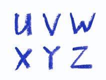 Sistema de letras aisladas Fotos de archivo