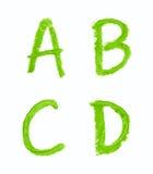 Sistema de letras aisladas Imagen de archivo
