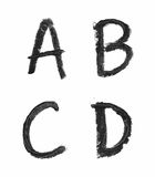 Sistema de letras aisladas Fotos de archivo libres de regalías