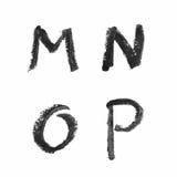 Sistema de letras aisladas Imágenes de archivo libres de regalías