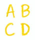 Sistema de letras aisladas Fotografía de archivo libre de regalías