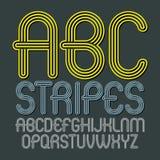Sistema de letras capitales del alfabeto del vector moderno de moda, isolat del ABC stock de ilustración