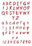 Sistema de letras grandes y pequeñas y de figuras Imagen de archivo libre de regalías