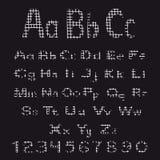 Sistema de letras y de números del alfabeto Foto de archivo