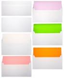Sistema de letras y de papeles del color Foto de archivo libre de regalías