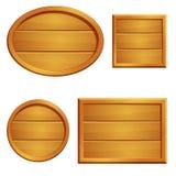 Sistema de letreros de madera en blanco Imagen de archivo