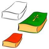 Sistema de libros de la historieta. eps10 Imágenes de archivo libres de regalías