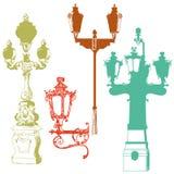 Sistema de linternas coloridas de la calle libre illustration