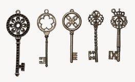 Sistema de llaves decorativas imagenes de archivo