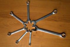 Sistema de llaves del metal Fotografía de archivo