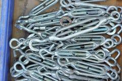 Sistema de llaves inglesas inoxidables usadas reales Fotografía de archivo libre de regalías