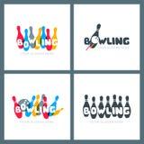 Sistema de logotipo, de iconos y de emblemas que ruedan dibujados mano del vector Fotos de archivo