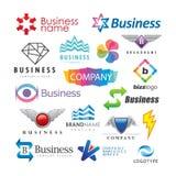 Sistema de logotipos abstractos del negocio Imagenes de archivo