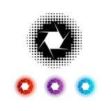 Sistema de logotipos de la abertura de la fotografía ilustración del vector