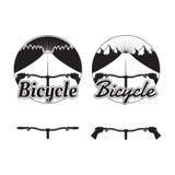 Sistema de logotipos de la bicicleta, de insignias y de elementos del diseño Imágenes de archivo libres de regalías