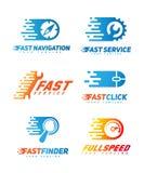 Sistema de logotipos de la tecnología Foto de archivo libre de regalías