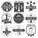 Sistema de logotipos del club de la cachimba del vector Imagen de archivo