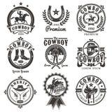 Sistema de logotipos del rodeo del vector libre illustration