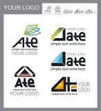 Sistema de logotipos, diseño corporativo Imagenes de archivo