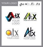 Sistema de logotipos, diseño corporativo Foto de archivo