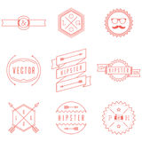 Sistema de logotipos retros del inconformista del vintage Foto de archivo libre de regalías