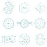 Sistema de logotipos retros del inconformista del vintage Imagenes de archivo