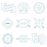 Sistema de logotipos retros del inconformista del vintage Ilustración del Vector