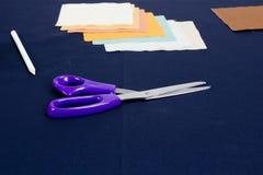 Sistema de los accesorios para coser Fotos de archivo