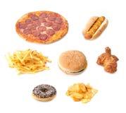 Sistema de los alimentos de preparación rápida foto de archivo