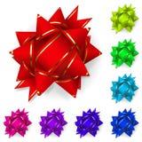 Sistema de los arcos de cintas multicoloras Imágenes de archivo libres de regalías