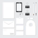 Sistema de los artículos planos del diseño para el negocio Fotografía de archivo libre de regalías
