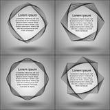 Sistema de los bastidores de las figuras del spirograph Foto de archivo libre de regalías