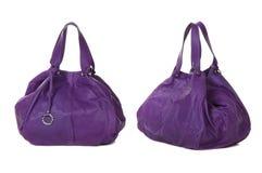 Sistema de los bolsos violetas de las mujeres Foto de archivo libre de regalías